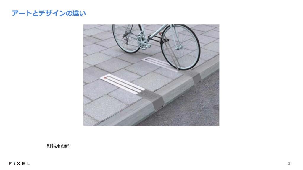 21 アートとデザインの違い 駐輪⽤設備