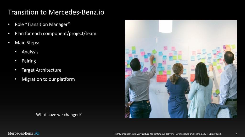 "Transition to Mercedes-Benz.io • Role ""Transiti..."