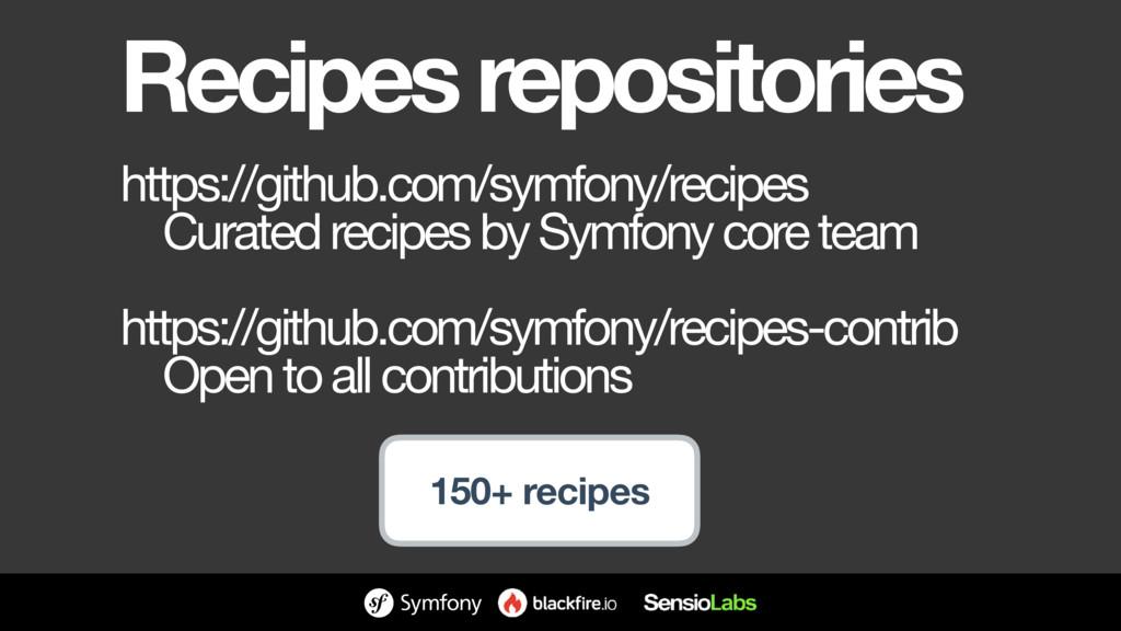 Recipes repositories https://github.com/symfony...