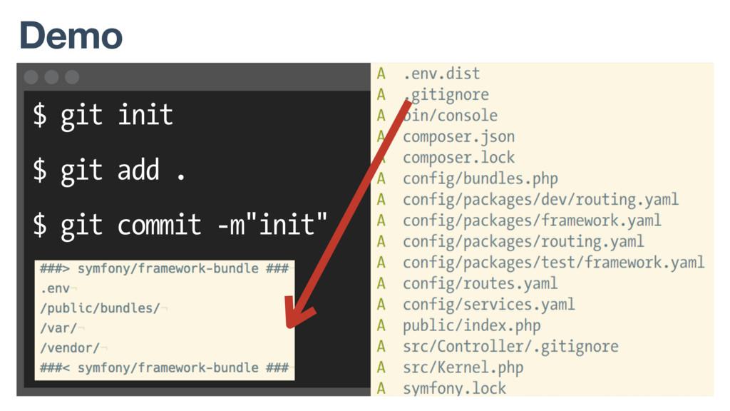 "$ git init $ git add . $ git commit -m""init"" De..."