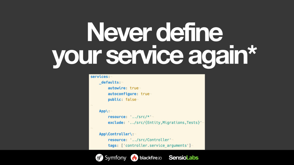 Never define