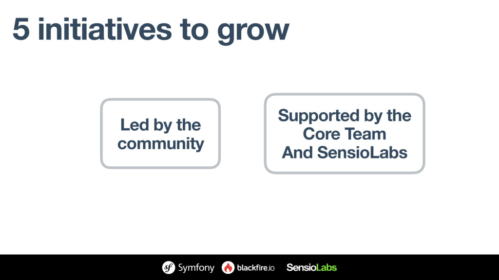 5 initiatives to grow Led by the community Supp...