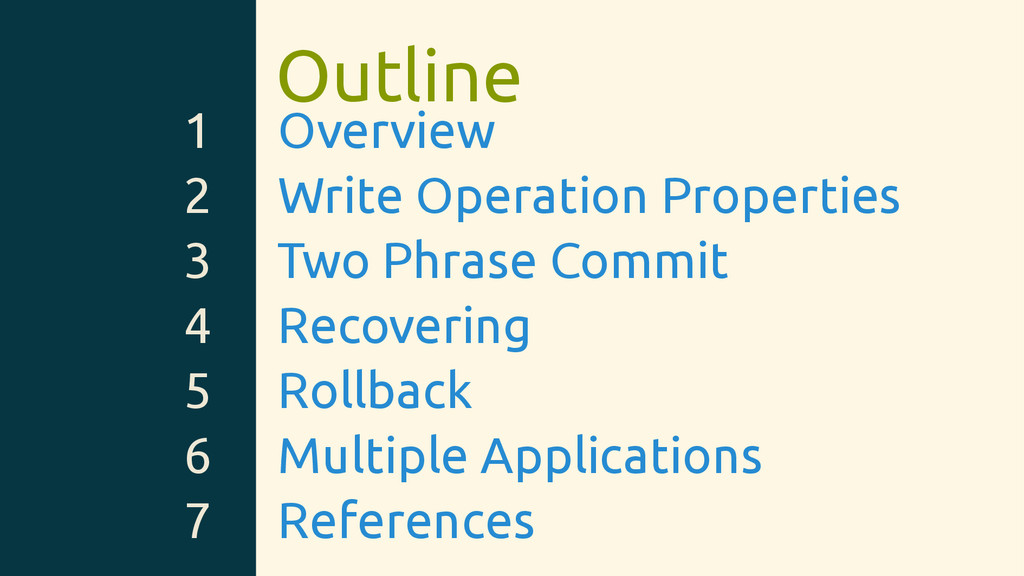 Outline 1 Overview 2 Write Operation Properties...