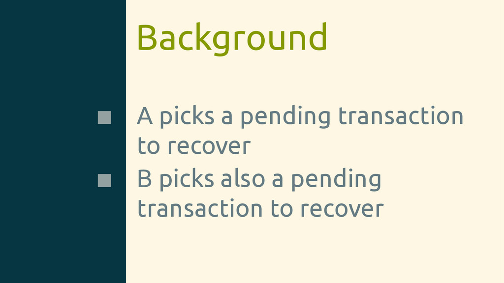 Background A picks a pending transaction to rec...