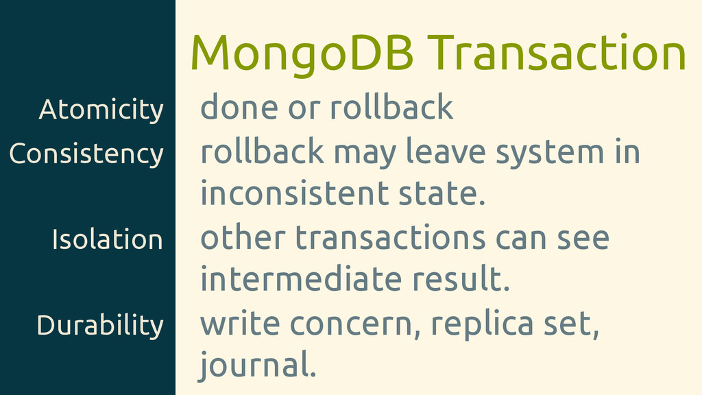 MongoDB Transaction Atomicity done or rollback ...