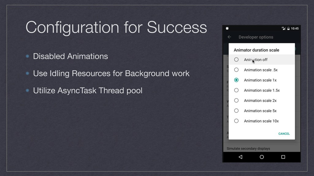 Configuration for Success Disabled Animations   ...