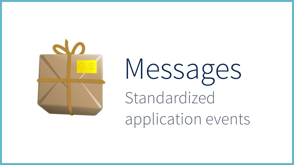 Messages Standardized application events