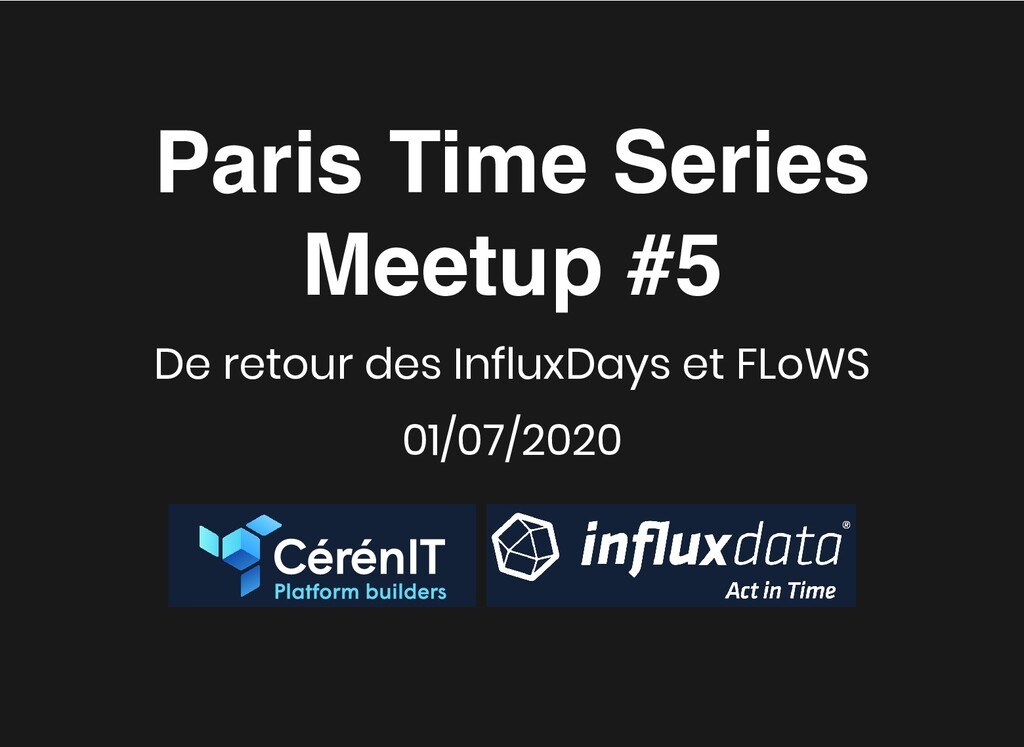 Paris Time Series Paris Time Series Meetup #5 M...