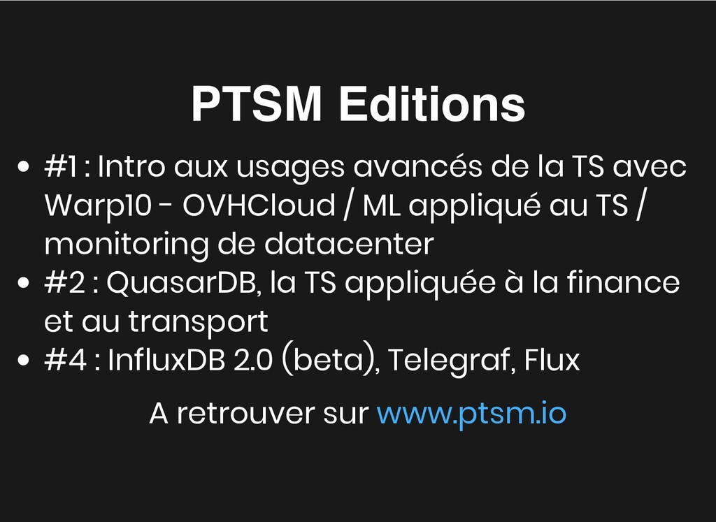 PTSM Editions PTSM Editions #1 : Intro aux usag...