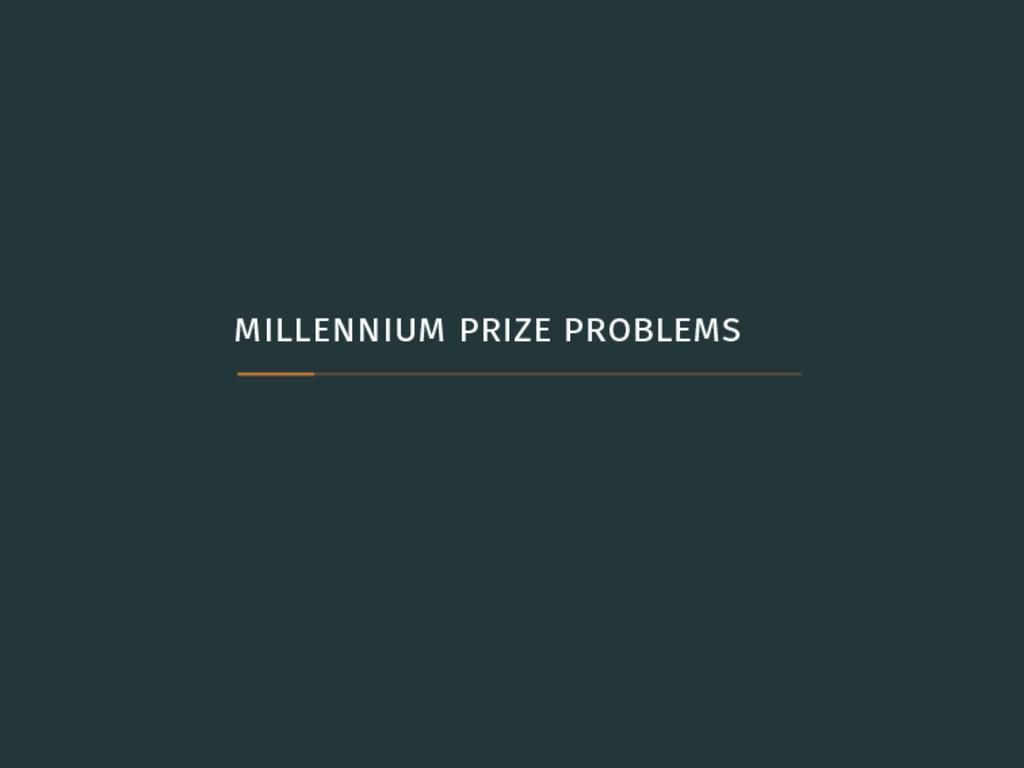 millennium prize problems