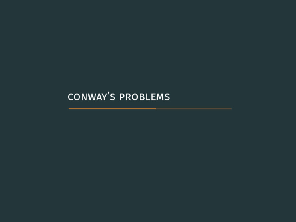 conway's problems