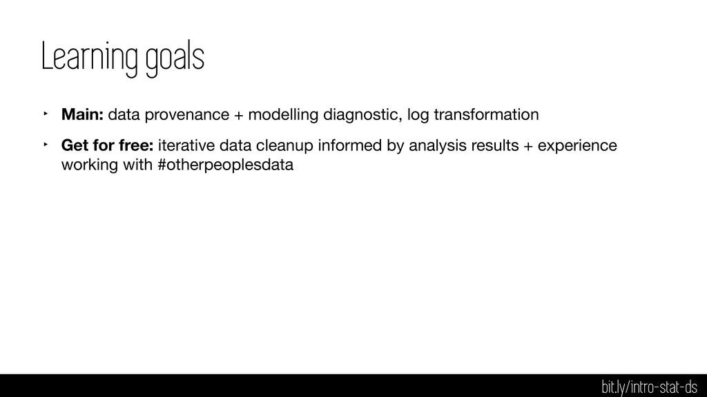 Learning goals ‣ Main: data provenance + modell...