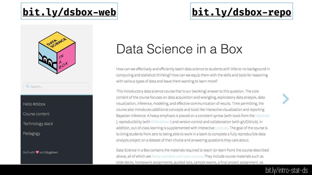bit.ly/dsbox-web bit.ly/dsbox-repo bit.ly/intro...