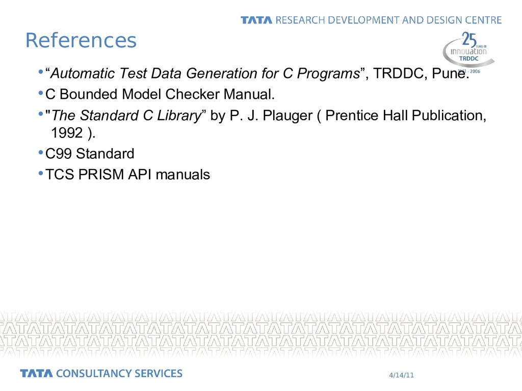 """4/14/11 •""""Automatic Test Data Generation for C ..."""