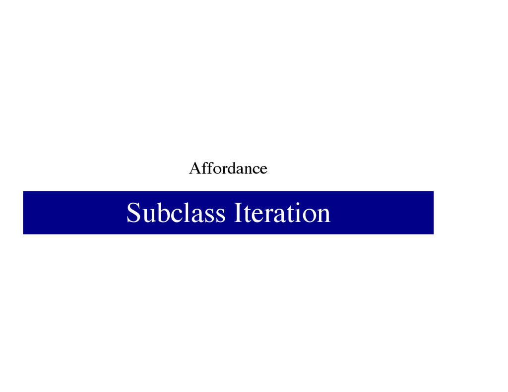 Affordance Subclass Iteration
