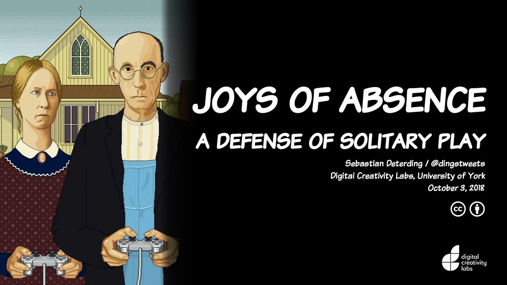 joys of absence a defense of solitary play Seba...