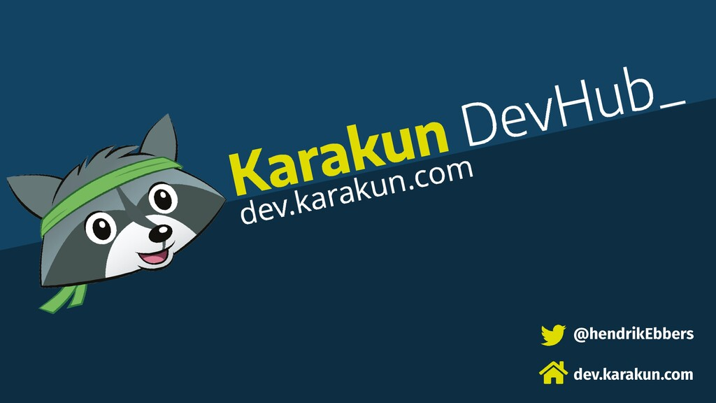 @hendrikEbbers dev.karakun.com