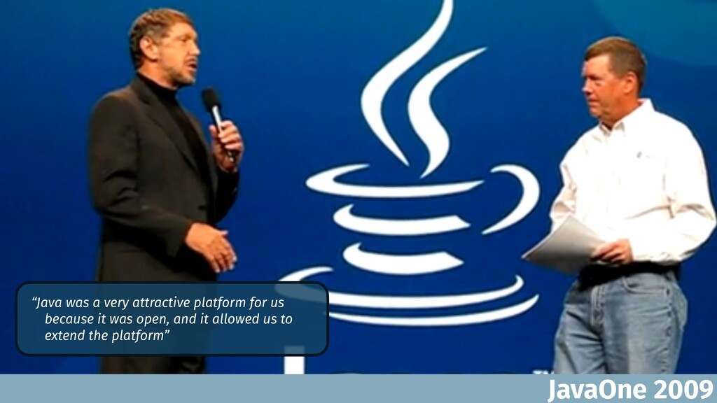 """JavaOne 2009 """"Java was a very attractive platfo..."""