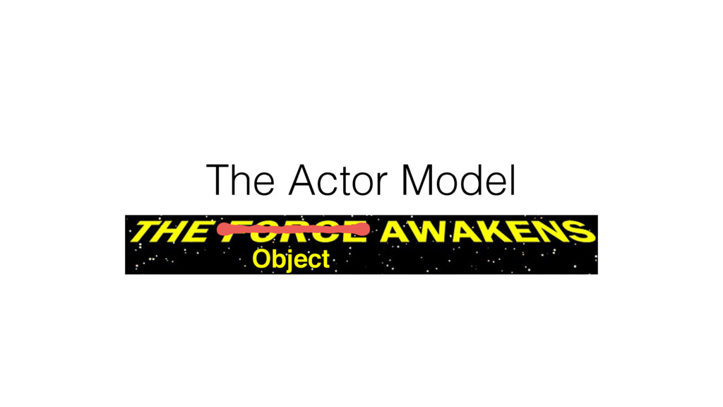 The Actor Model Object