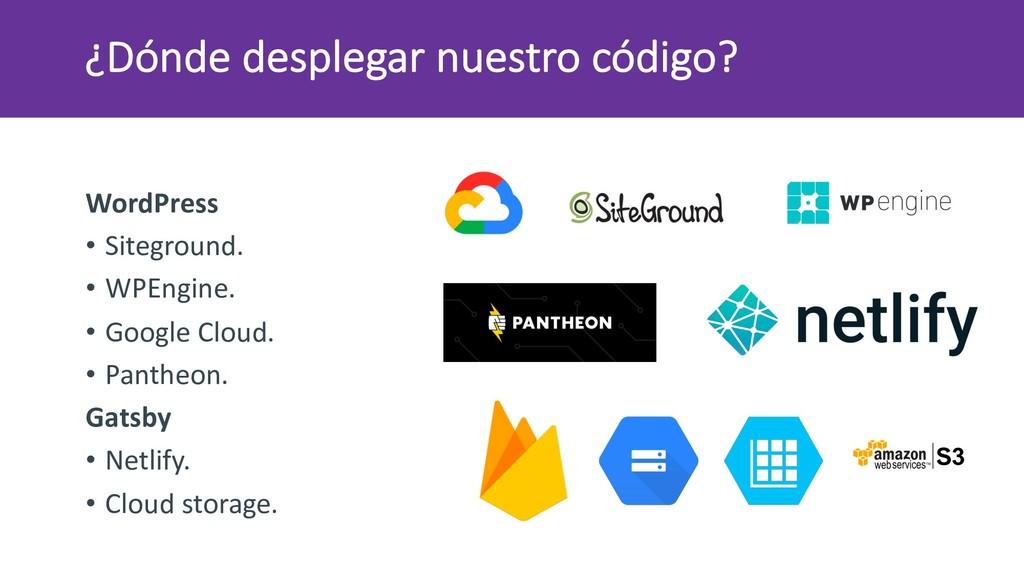 ¿Dónde desplegar nuestro código? WordPress • Si...