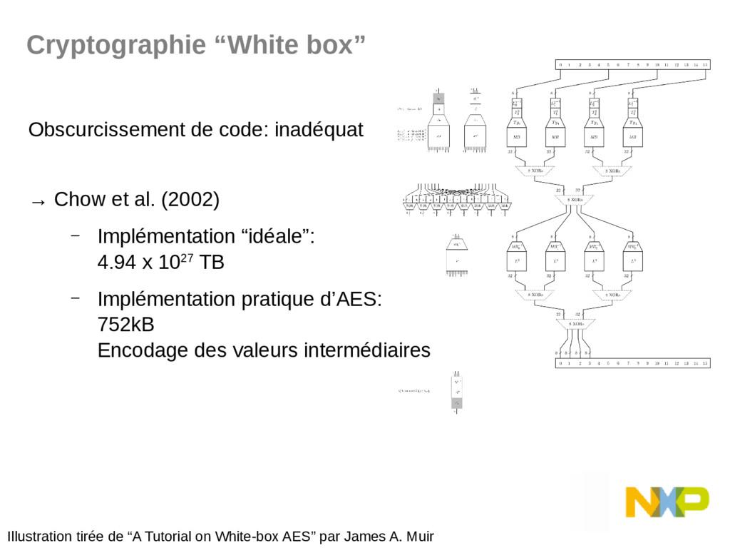 Obscurcissement de code: inadéquat → Chow et al...