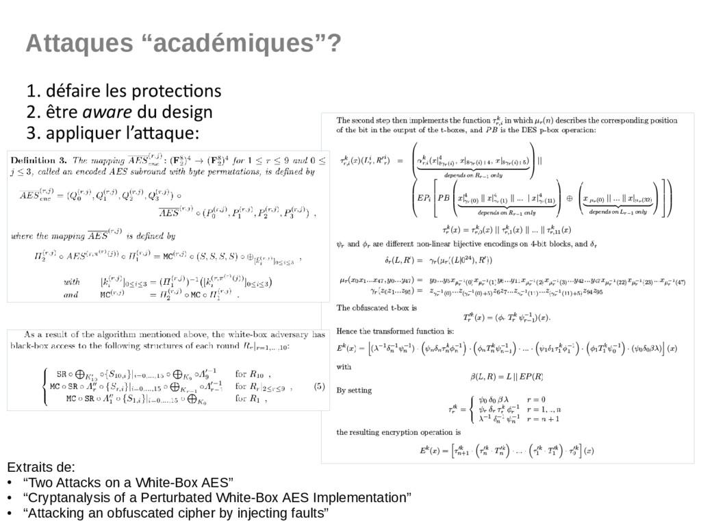 """Attaques """"académiques""""? 1. défaire les protecti..."""