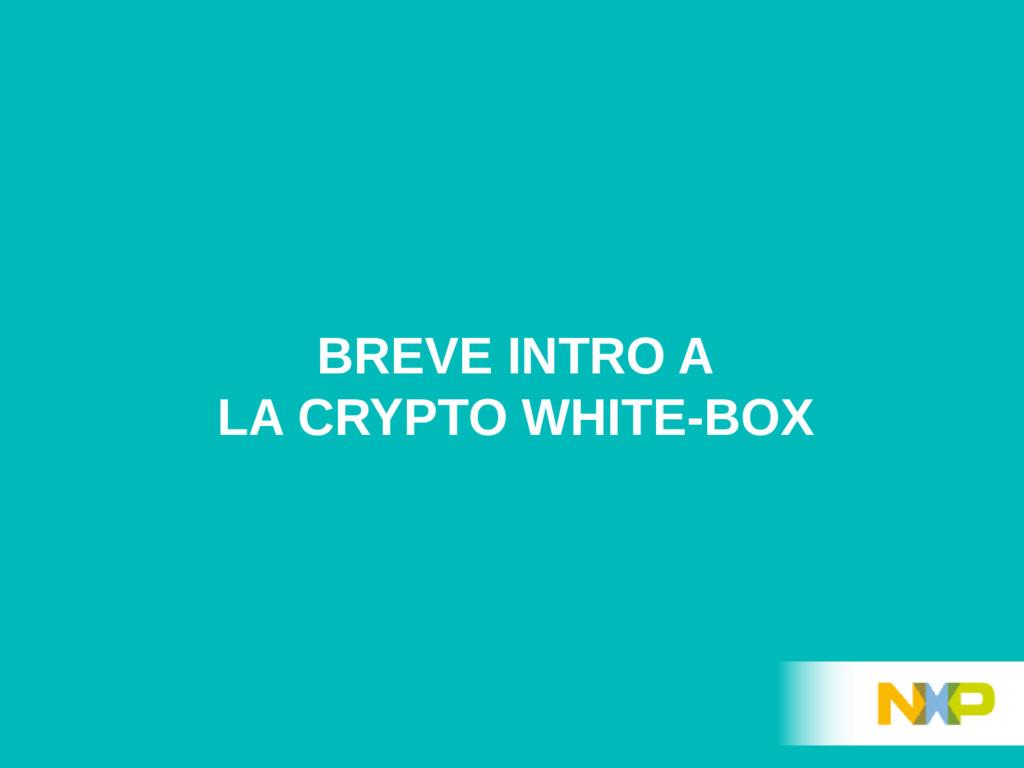 BREVE INTRO A LA CRYPTO WHITE-BOX