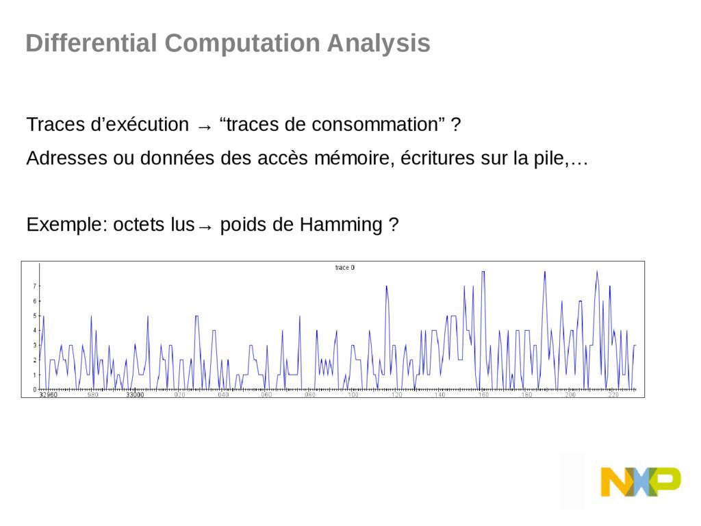 """Traces d'exécution → """"traces de consommation"""" ?..."""