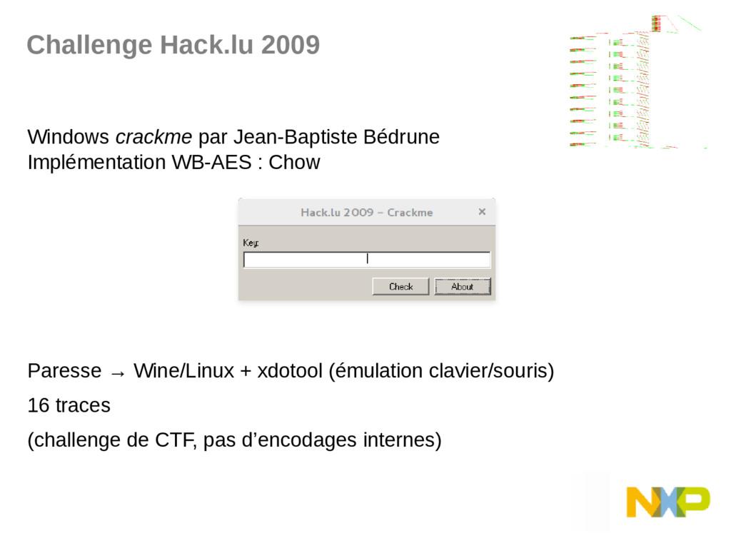Challenge Hack.lu 2009 Windows crackme par Jean...
