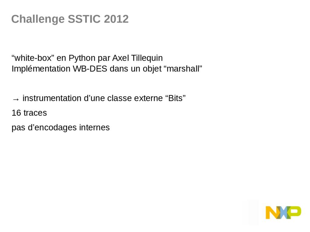 "Challenge SSTIC 2012 ""white-box"" en Python par ..."