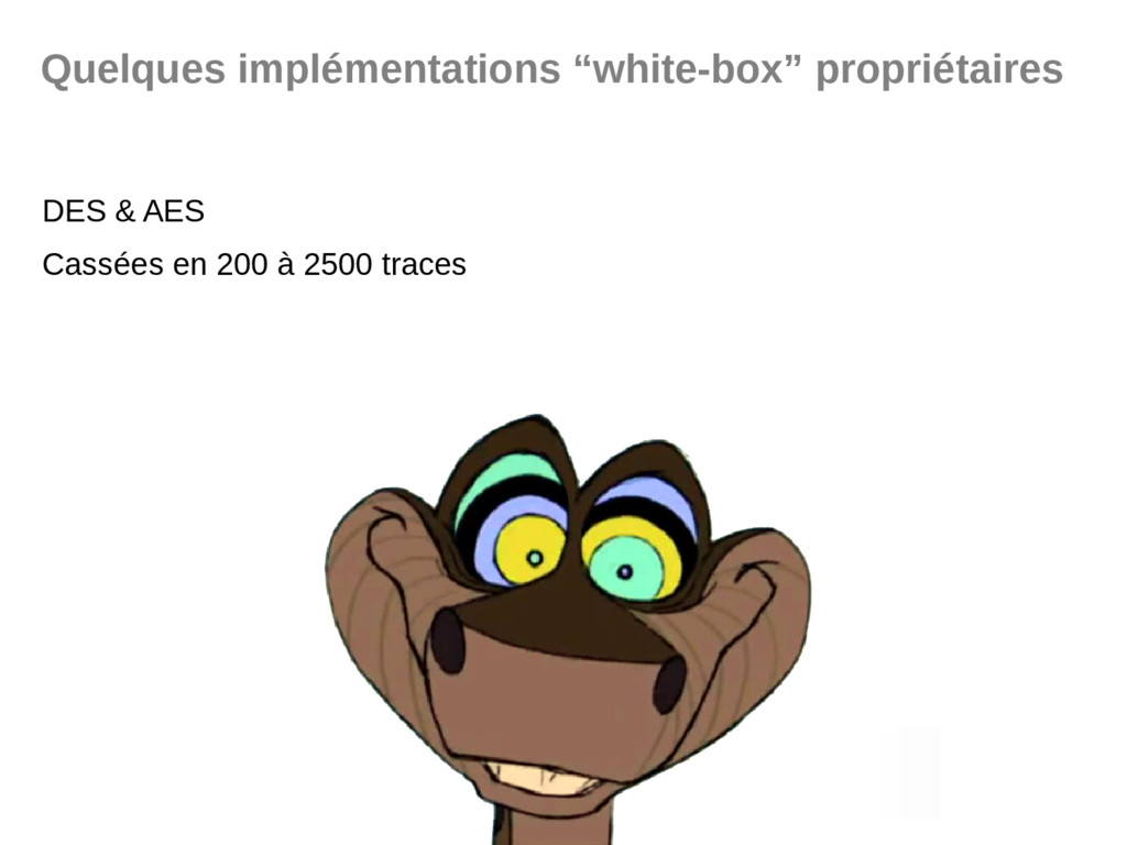 """Quelques implémentations """"white-box"""" propriétai..."""