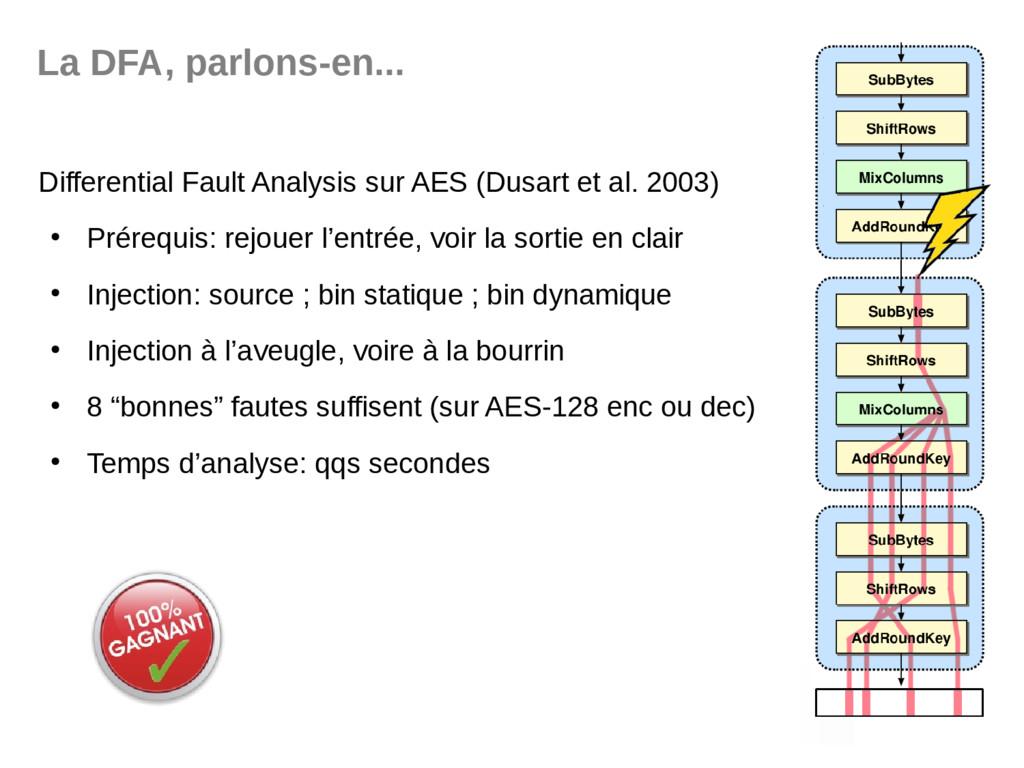 La DFA, parlons-en... Differential Fault Analys...