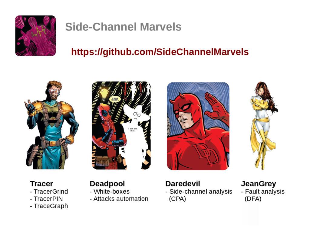 Side-Channel Marvels https://github.com/SideCha...