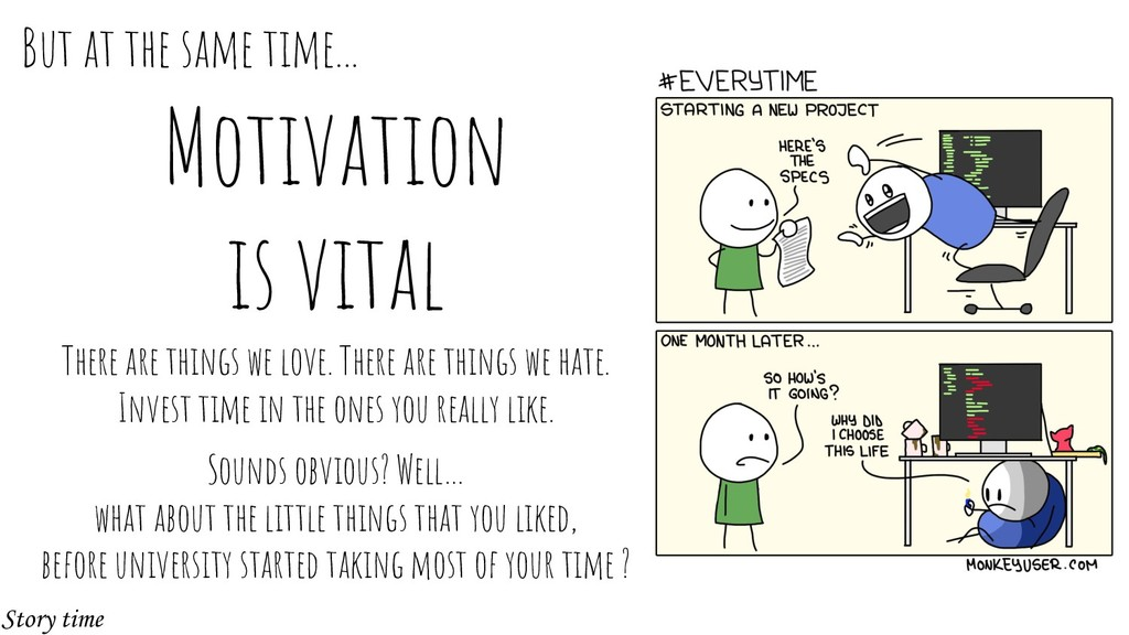 Motivation is vital There are things we love. T...
