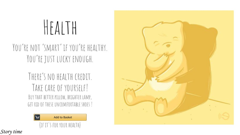Health You're not 'smart' if you're healthy. Yo...