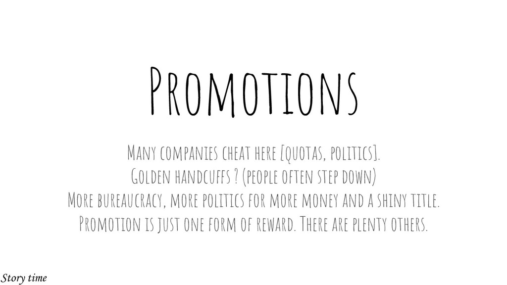 Promotions Many companies cheat here [quotas, p...