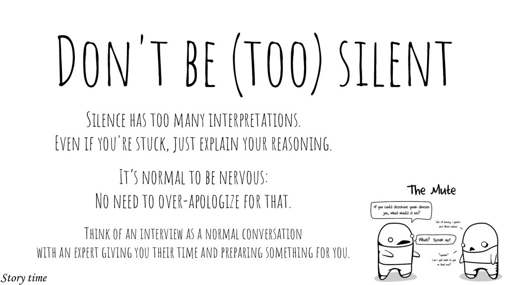 Don't be (too) silent Silence has too many inte...