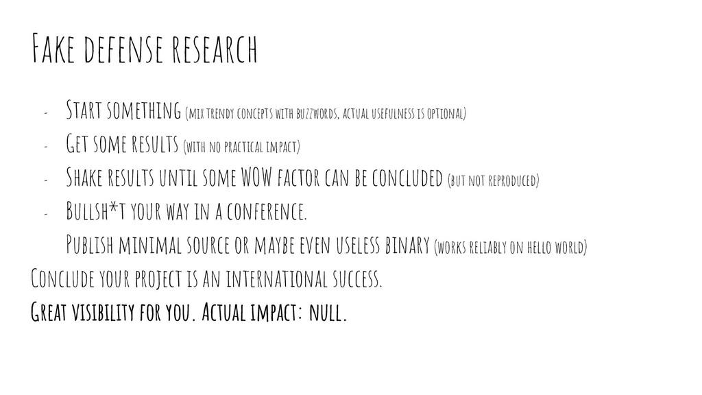 Fake defense research - Start something (mix tr...