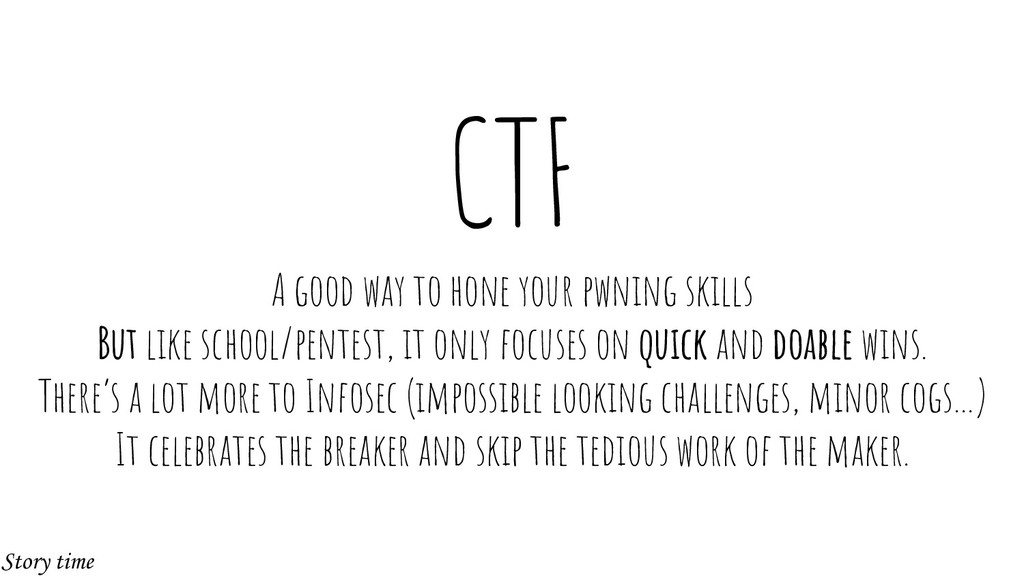 CTF A good way to hone your pwning skills But l...