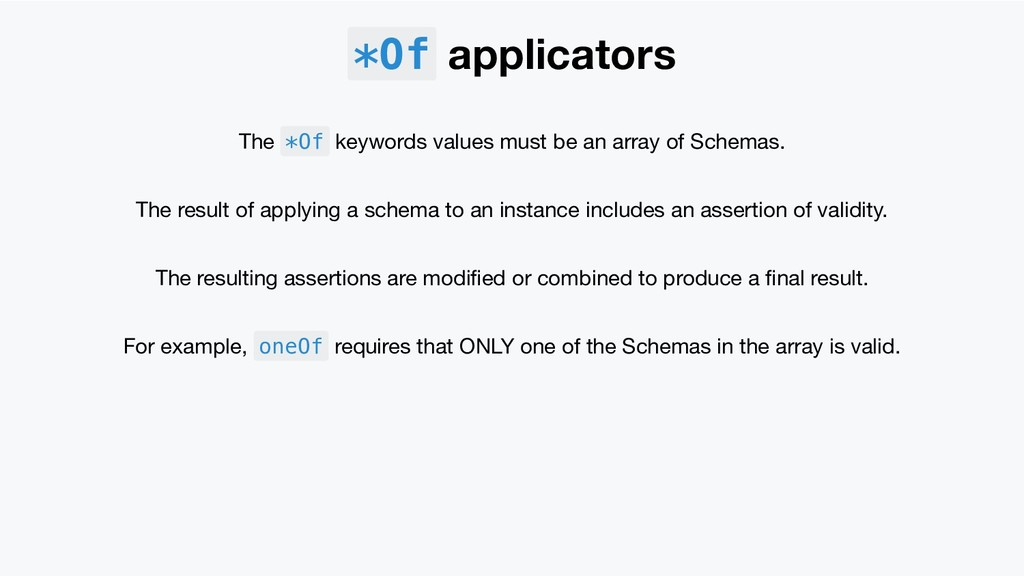 *Of applicators The *Of keywords values must be...