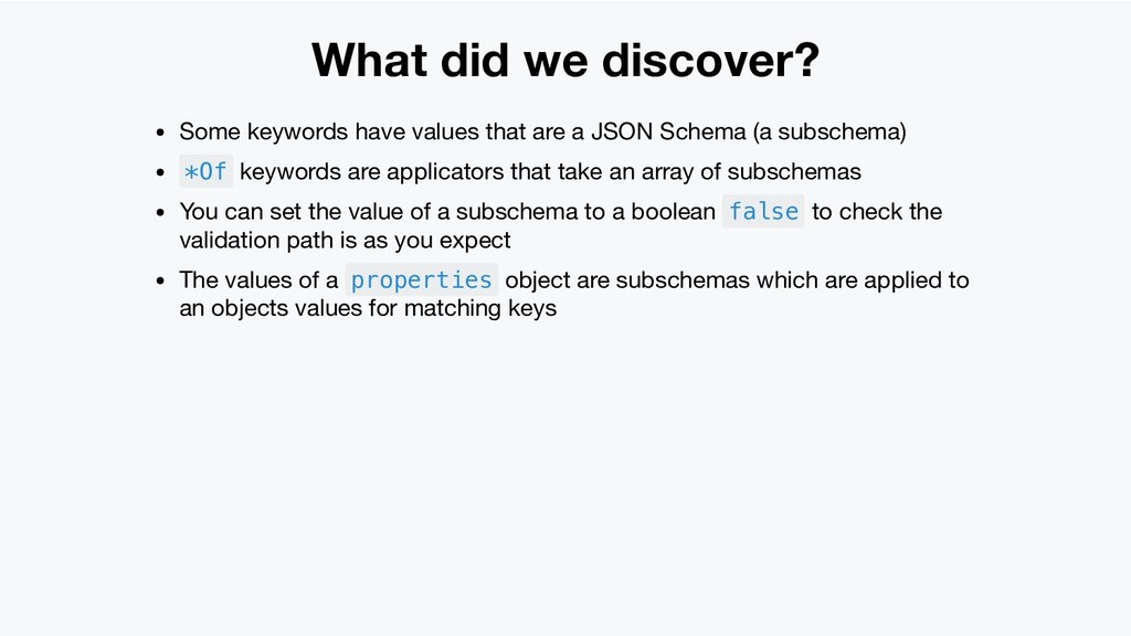 What did we discover? Some keywords have values...