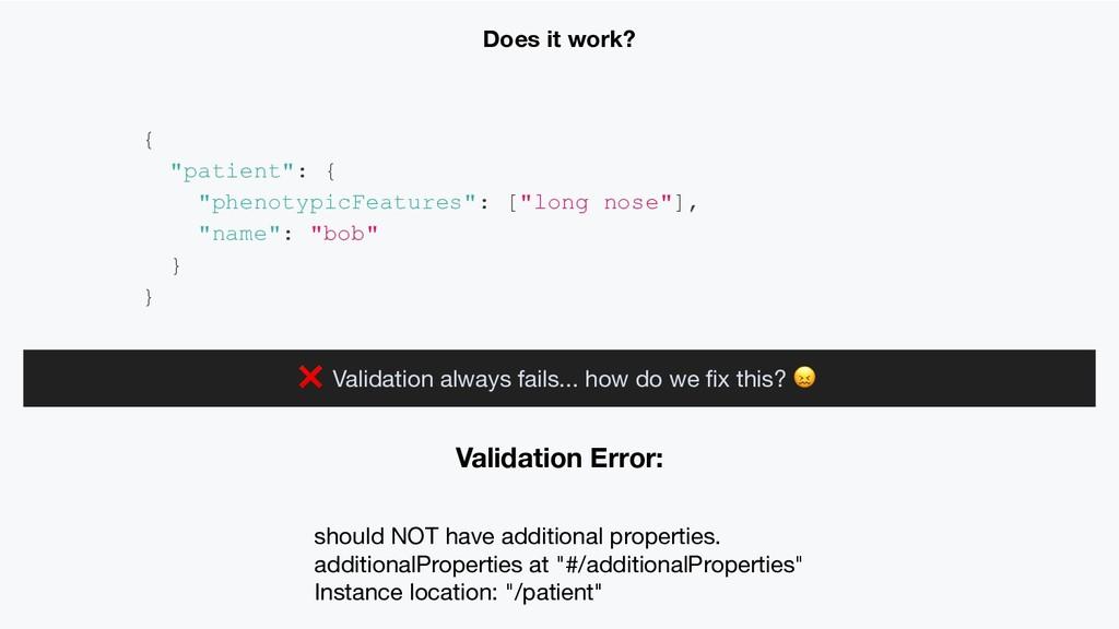Validation Error: should NOT have additional pr...
