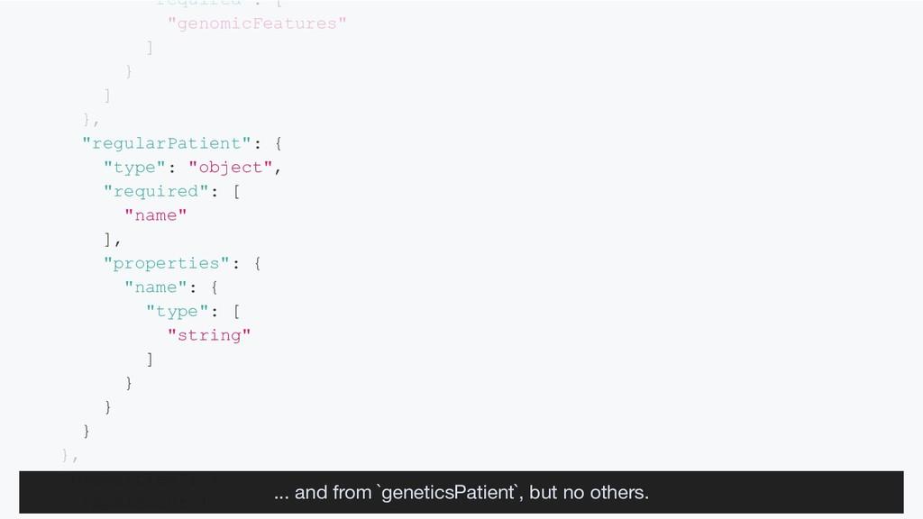 """required : [ """"genomicFeatures"""" ] } ] }, """"regula..."""