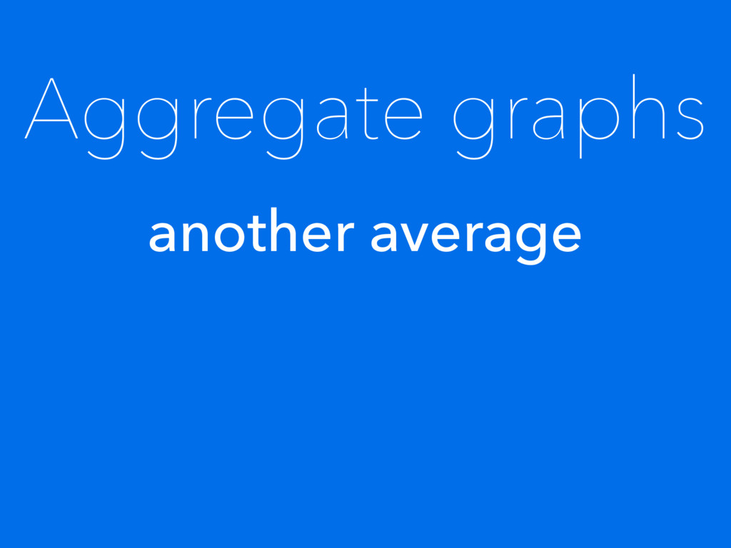 Aggregate graphs another average