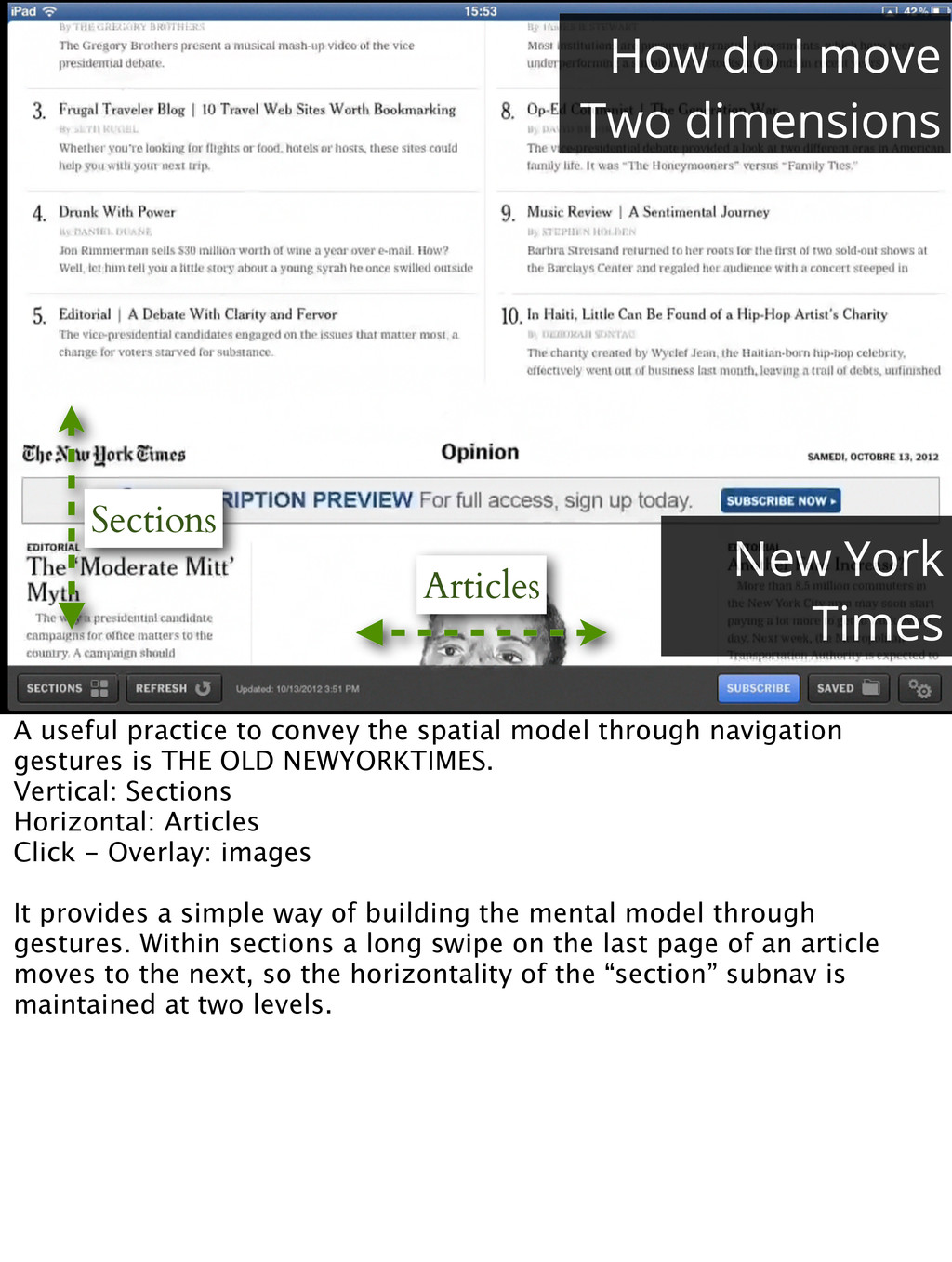 Sections Articles How do I move Two dimensions ...
