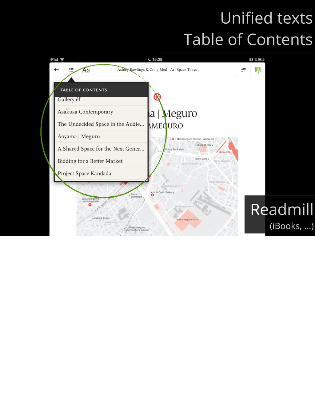 Unified texts Table of Contents Readmill (iBooks...