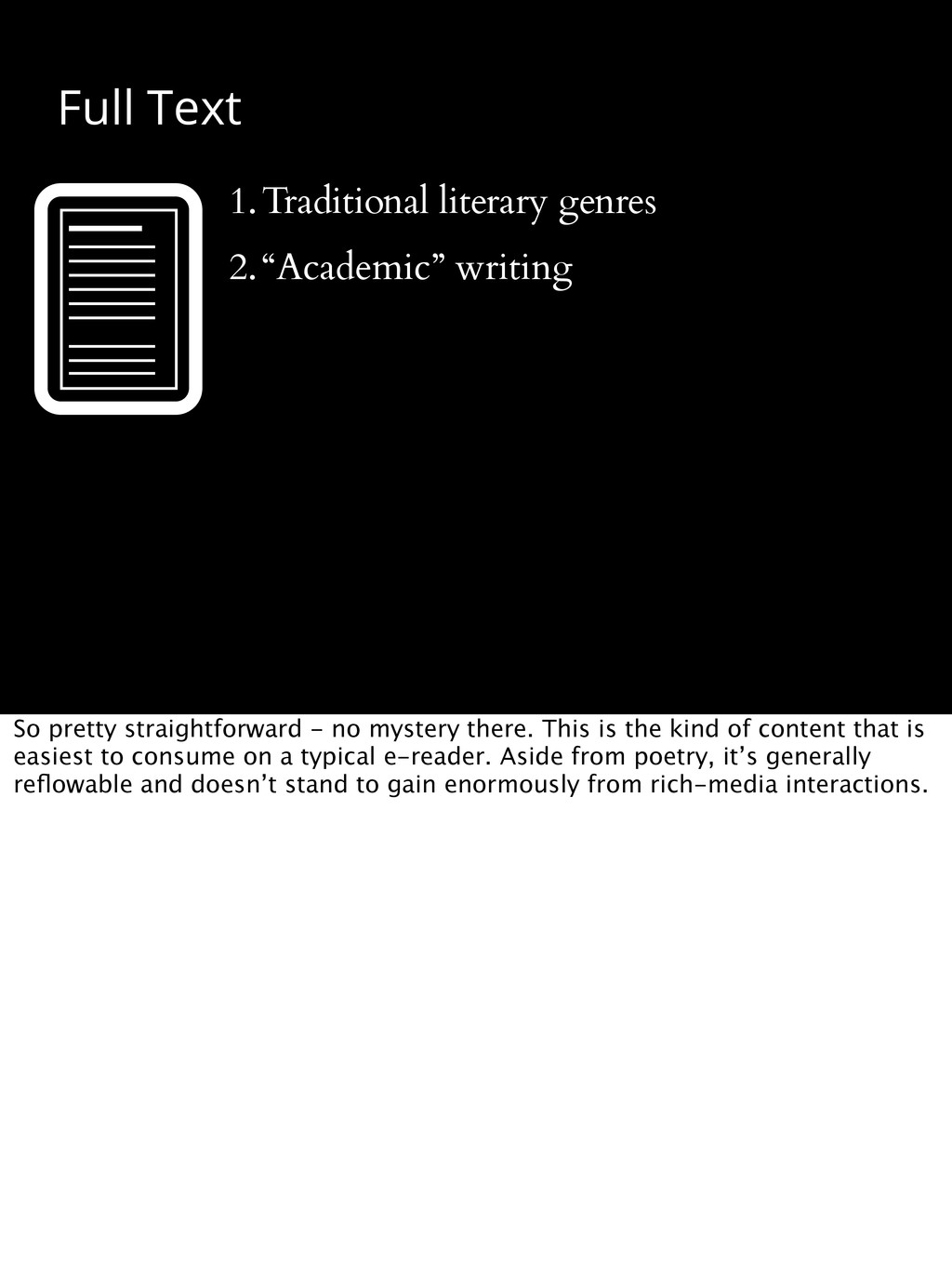 """Full Text 1.Traditional literary genres 2.""""Acad..."""