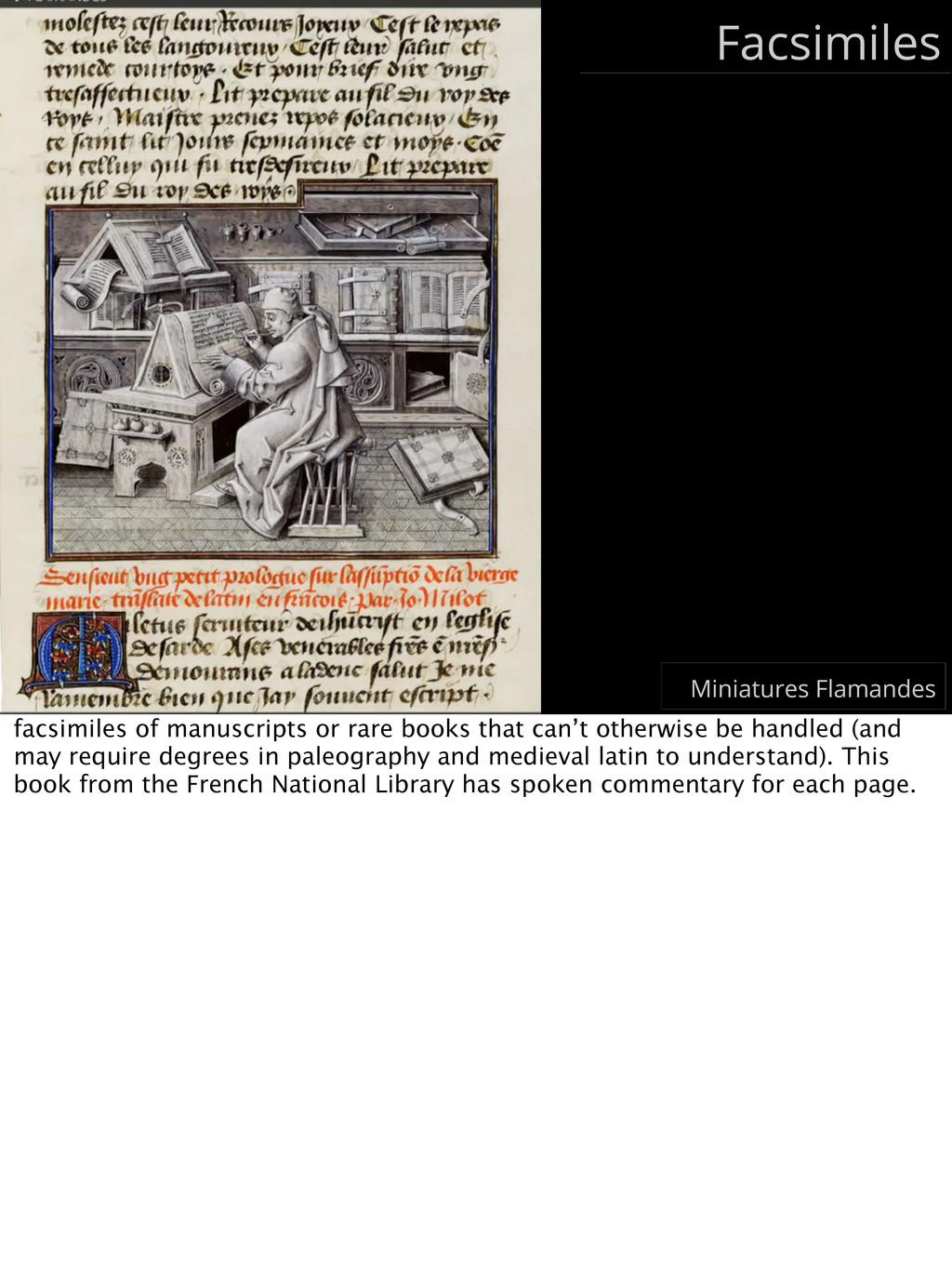 Facsimiles Miniatures Flamandes facsimiles of m...