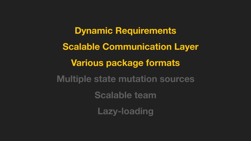 Dynamic Requirements Scalable Communication Lay...