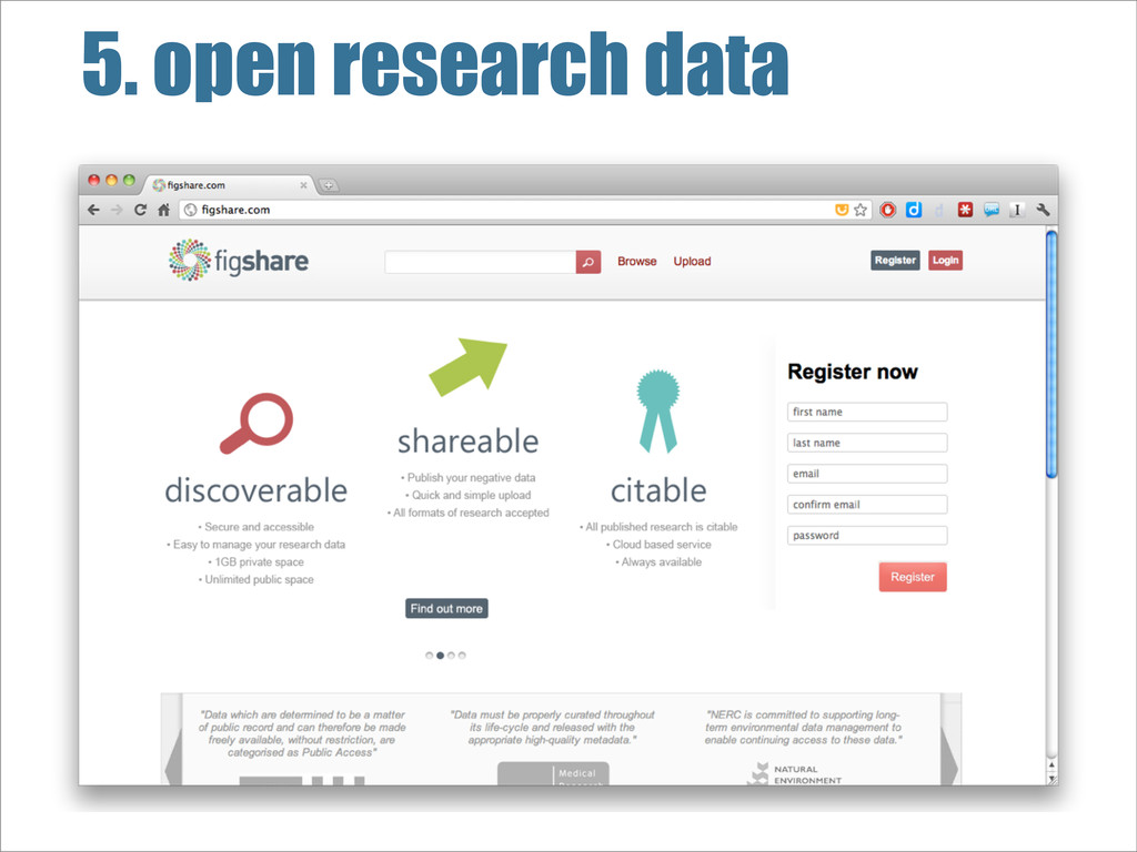 5. open research data